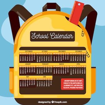 バックパックの学校のカレンダー