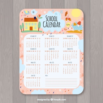 かわいい学校カレンダー