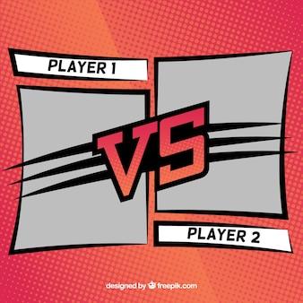 Современный фон с двумя игроками