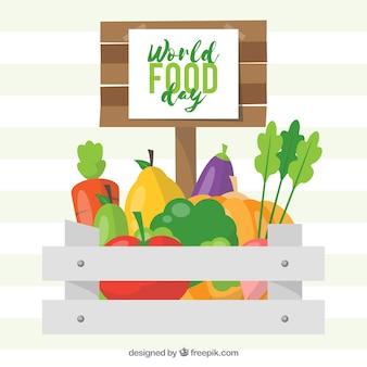 Овощной дизайн фона