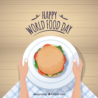Счастливый фон дня питания в мире