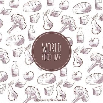 最小限の世界の食品の日の背景