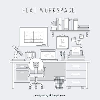 Современный офисный стол с элегантным стилем
