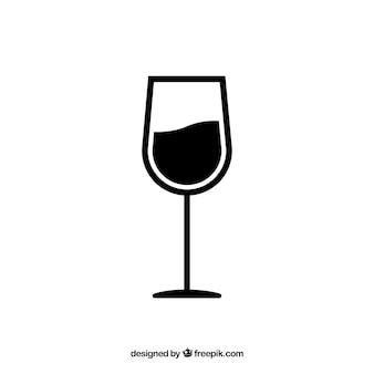 ワイングラスのベクトル