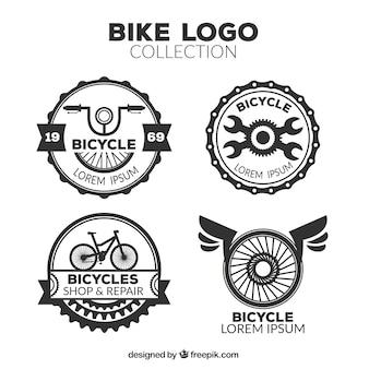 レトロな自転車のロゴのパック