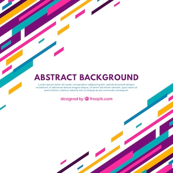 Абстрактный фон с красочными линиями