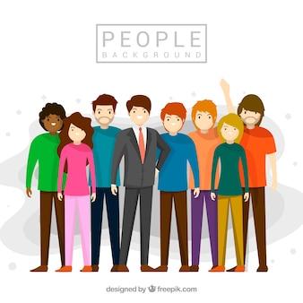 人々グループの背景