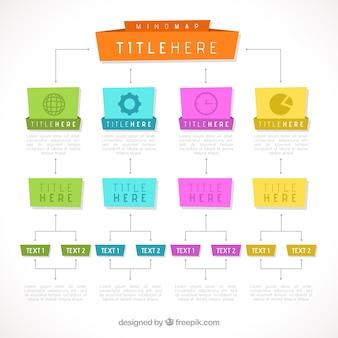 Веселый и красочный шаблон диаграммы