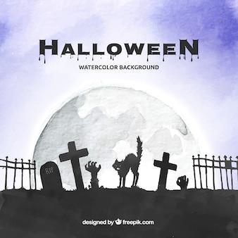 ハロウィンの背景デザイン