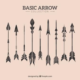 ヴィンテージの矢のコレクション