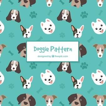 犬のパターンのコレクション