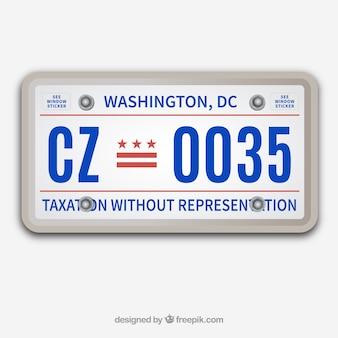 車のライセンスベクトル