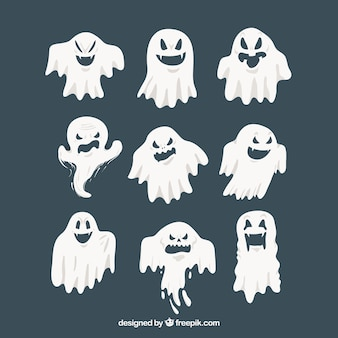 ハロウィーンの幽霊の現代的なパック