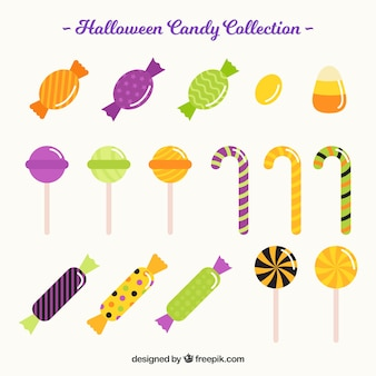 フラットな色とりどりのキャンディー
