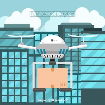 現代の都市での無人機