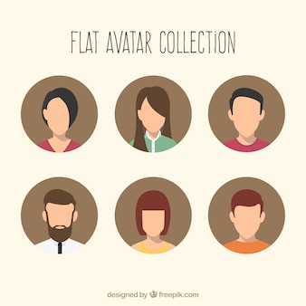 Плоские аватары с современным стилем