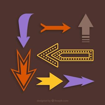 レトロ方向矢印記号