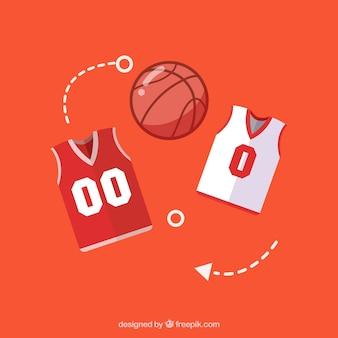 バスケットボールユニフォームシャツとパンツ