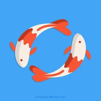 Японский кои рыба