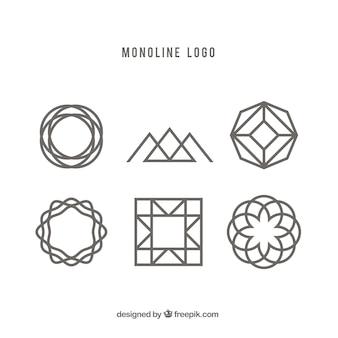創造的な幾何学的モノリンのロゴ
