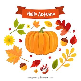 ハロー秋の背景