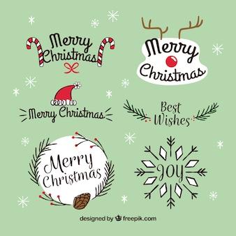クリスマスラベルのオリジナルパック