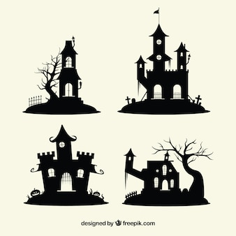 魅惑的なハロウィーンの城のパック