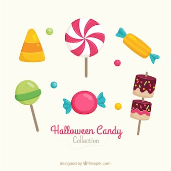 Пакет леденцов на палочке и конфеты хэллоуина