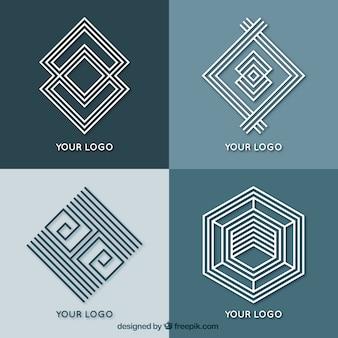 抽象的な幾何学的モノリンのロゴ