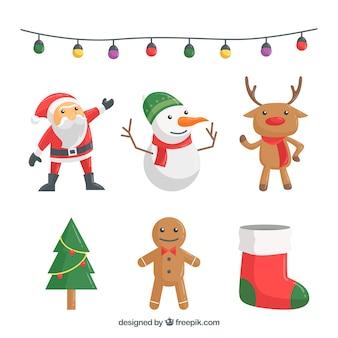 クリスマスの装飾品の素敵なパック
