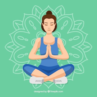 Молодая женщина медитации