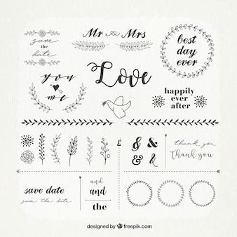 結婚式の装飾品のビンテージパック