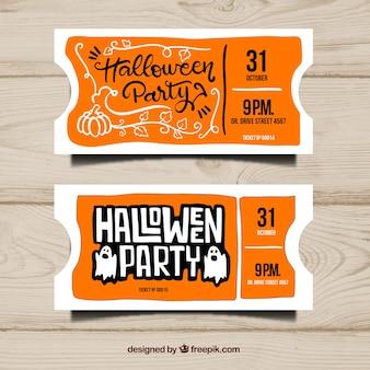 Оранжевые билеты на хэллоуин