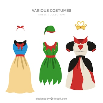 ドレスの衣装の広い範囲