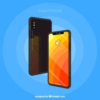 携帯電話の側面図