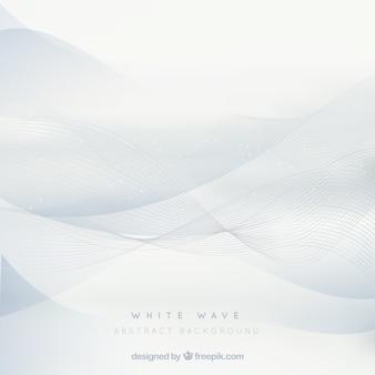 エレガントな波と白い背景