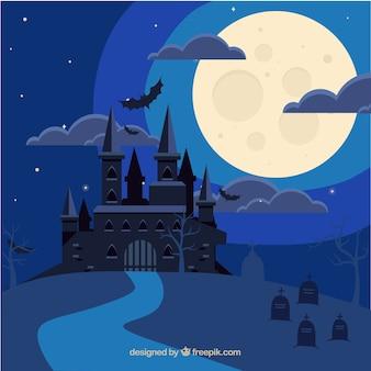 ハロウィンの城の背景