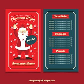 Рождественское меню с санта-клаусом