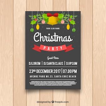 Рождественский праздничный плакат с прекрасным стилем