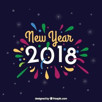 カラフルな新年の背景