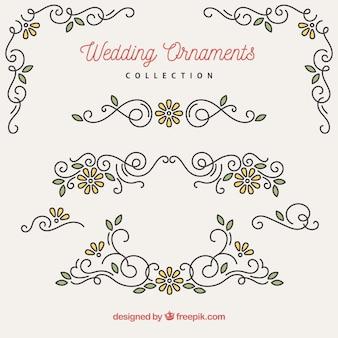 結婚式の装飾品のコレクション