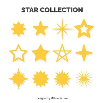 装飾的な星のパック