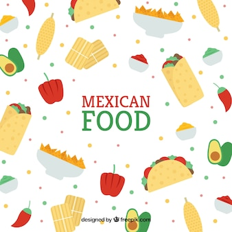 メキシコ料理のパターンデザイン