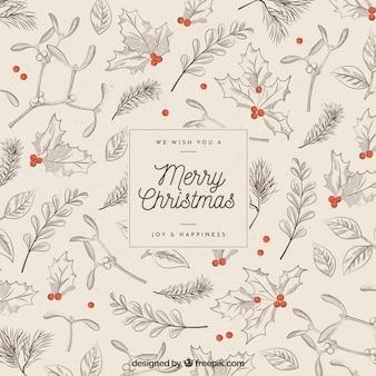 Рождественский фон в винтажном стиле