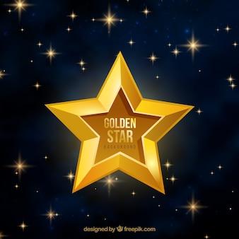 黄金の星の背景