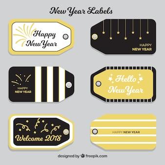 Черные и золотые метки нового года