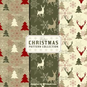 ビンテージクリスマスパターンのパック