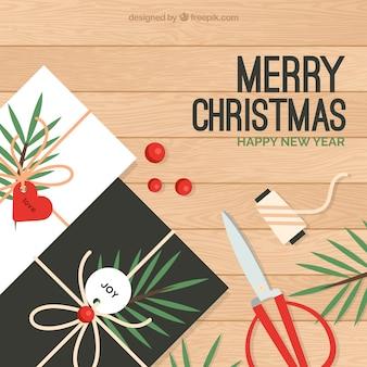 クリスマスのポストカードを作る