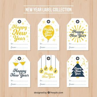 Коллекция тегов нового года