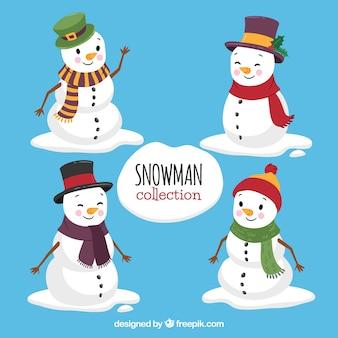 Прекрасный набор снеговиков